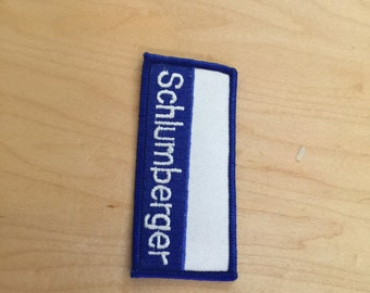 vintage oil company  patch, schlumberger, new old stock, 1970's