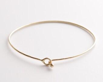 14KT Solid Gold Tie The Knot Bracelet