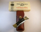 Case Shark Tooth 1980 (10 dot) Lockback Knife with Original Leather Sheath and Box