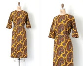 vintage 1960s dress / 60s batik cotton dress / Lee Lee #1