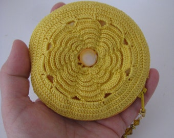 Petite Lily Pouch in Gold Yellow
