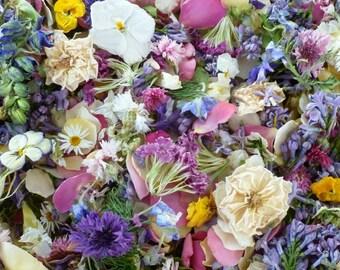 Bulk Dry Flower Confetti, Craft Supply, Dry Petals, Wedding Confetti, Table Decor, Flower Girl Petals, Decorations, Aisle Decor, 3 US cups