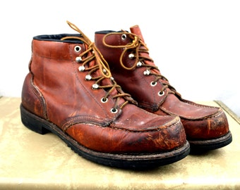 Distressed Vintage Red Wing's Irish Setter Sport Boots