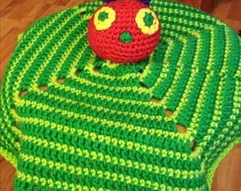 Crocheted Hungry Caterpillar Lovey