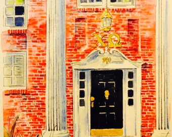 Chi Omega - front door - University of Arkansas