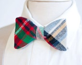 Bow Ties, Bow Tie, Bowties, Mens Bow Ties, Freestyle Bow Ties, Self-Tie Bow Ties, Groomsmen Bow Ties - Fall/Holiday Multi Plaid Flannel