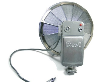 Escot Folding Fan Flash Unit Vintage Camera Accessory