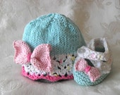 Baby Hats Knitting Knit Baby Hat Knitted Lace Baby Hats Knit Baby Hat Baby Hat with Bow Cotton Knit Baby Hat Children Clothing