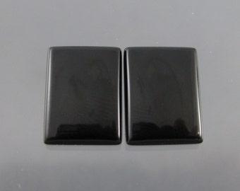 Premium  Black Onyx Cabochon Matched Pair HALF OFF SALE
