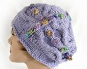 Woman's Purple Cloche Hat Women's Purple Knit Hat Lilac Winter Cloche Woman's Lilac Hat Purple Winter Hat Women's Knit Purple Hat Girl's Hat