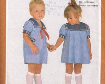 80s Toddler Sailor Suit Pattern Simplicity 5865 Size 1 Cute Boys Sailor Suit or Sailor Dress Vintage 1982 Sewing Pattern Sewing for Babies