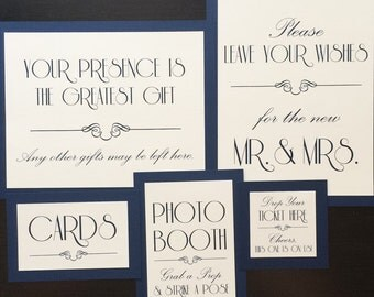 Art Nouveau Wedding Reception Sign Custom Colors Fonts Text Handmade Choose size up to 8x10 Single Sign
