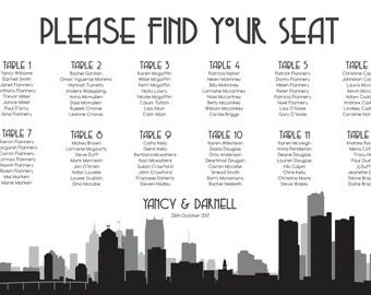 Detroit Seating Chart Printable PDF Custom Poster Digital Design Print File ONLY Seating Plan