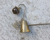 Cutest ever Arts and Crafts Vintage Candle Snuffer  with a glass marble and copper ball