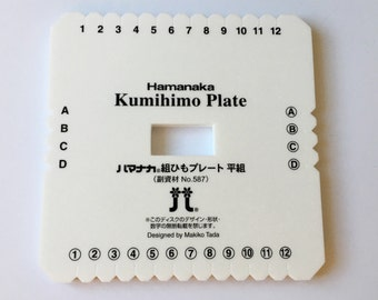 Hamanaka Kumihimo Square Plate designed by Makiko Tada, Kumihimo Braiding Tool