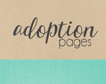 ADOPTION pages // baby book, baby gift, add on page, baby keepsake