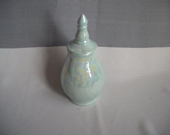 Small  Ceramic Cremation Urn / Mother of Pearl