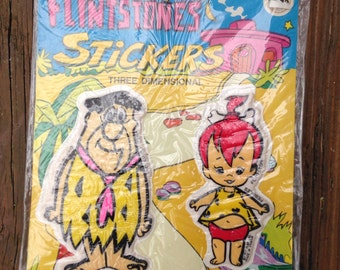 Vtg Vintage 70s The Flintstones puffy stickers.  Unopened. Vintage stickers.  Fred Barney Pebbles Bam Bam. 1970s