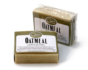 Oatmeal Organic Colloidal Soap, Unscented, Sensitive Skin, Itchy Skin, FREE SHIPPING