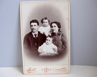 Antique Victorian cabinet card Victorian photograph family group