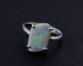 40% OFF Freeform Australian Opal Ring - Green - October Birthstone