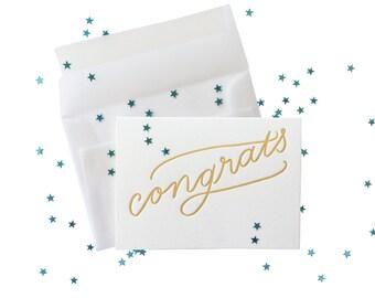 Confetti Congrats letterpress card