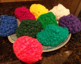 Set of Three Nylon Scrubbies