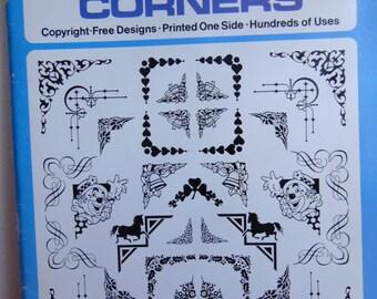 Vintage Dover Clip Art Book of Decorative Corners for Wedding Invites, Digital Design