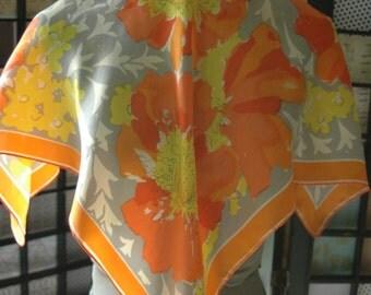 Vintage Vera Neumann Silk Scarf Fall Floral