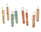 Gold Splatter Earrings