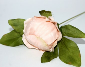 Rose Cream Peony Ball Pick - Artificial Silk Flower