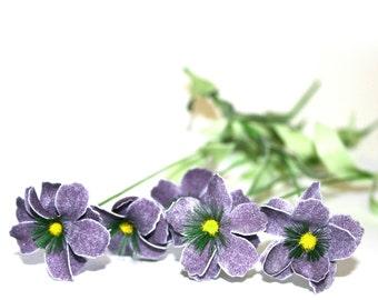 5 Dark Lavender Daisy Stems - Arificial Flowers - PRE-ORDER