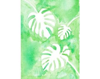 minimalist watercolor print: Negative Plants