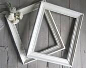 French Country Frames, Vintage Frames, White Frames, Large Ornate Frames, Shabby Cottage Decor, Paris Apartment, 11x14 Wood Frames