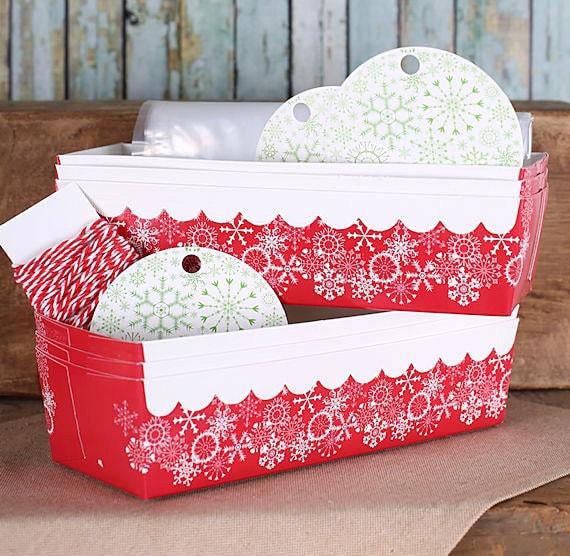 Christmas Loaf Pan Kit With Snowflake Baking Pans Tags