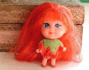 "1968 RETRO Liddle Kiddles ""Kola Kiddle SHIRLEY STRAWBERRY  - Vintage - Original Doll - 48 Years Old"