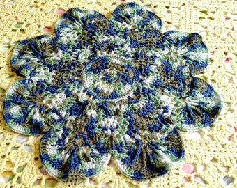 Sock Yarn Doily Placemat Centerpiece