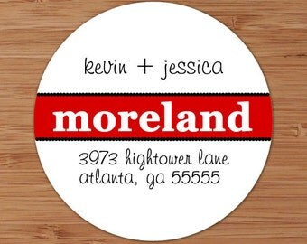 Bold Surname Custom Personalized Address Labels or Stickers