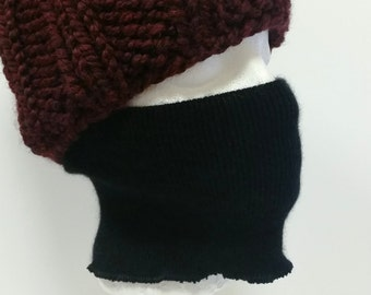 Black Cashmere Face Nose Warmer * Facemask * 100% Cashmere L to XL * For Men Women * An Upcycled Sweater Accessory