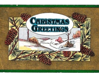 Christmas Greetings 1909 Used Postcard 1 Cent Stamp