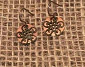 Custom Earrings For Melanie Only, Custom Jewelry, Custom Dangle Earrings, Copper Dangle Earrings, Copper Filligree Earrings, Custom Order
