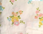 Twin Vintage Fitted Sheet with Colorful Floral