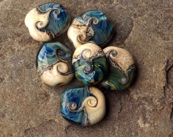 "Lampwork Bead Set - Handmade Glass Beads ""Arabian Nights"""