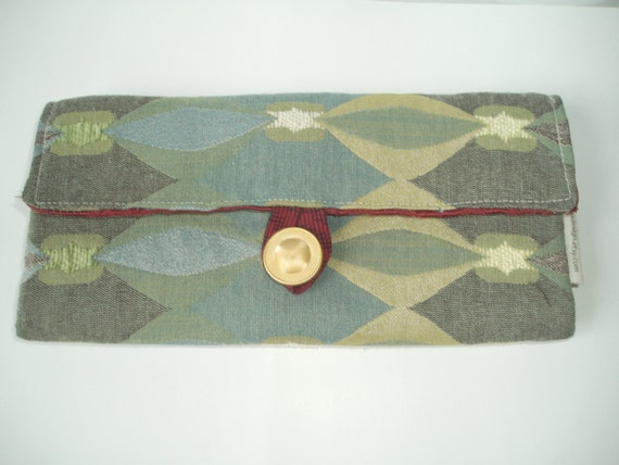 Olive Gray Decorative Travel Jewelry Organizer