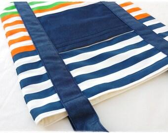 Mac-Pack Canvas Tote Bag - Shopping Bag - Large Tote Bag - Canvas Beach Bag - Handmade Cotton Canvas Tote Bag - Ikea Gitmaj and Denim