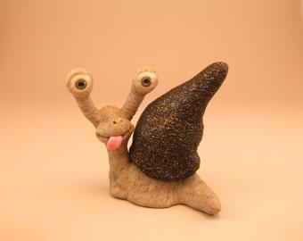 Snail Grey Clay Sculpture