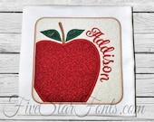 Fall Apple Square Patch Applique