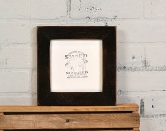 """6x6"""" Picture Frame in 1.5"""" Reclaimed Cedar with Vintage Black Finish - IN STOCK - Same Day Shipping - 6 x 6 Square Frame"""
