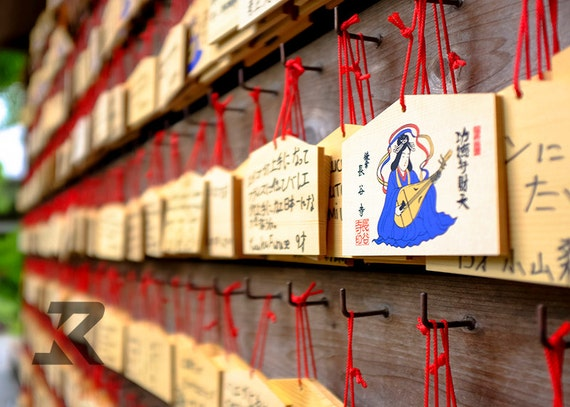 Wall of Shinto Fortunes (Photography Print)