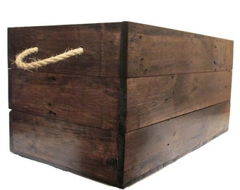X LARGE Dark Walnut Storage Toy Box Chest